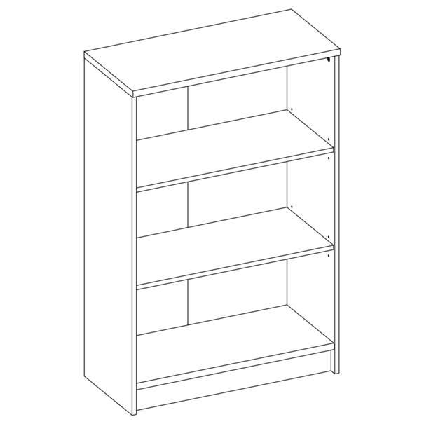 Regál/knihovna OPTIMUS 35-014-66 beton/bílá 4