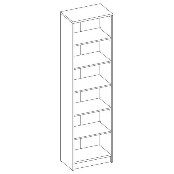 Regál/knihovna OPTIMUS 35-015 bílá 4