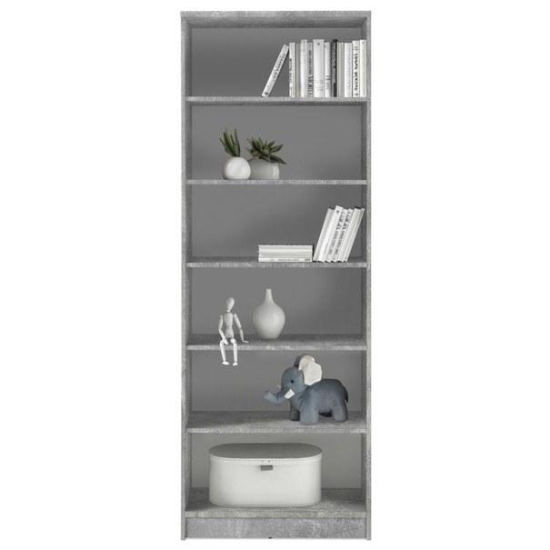 Regál/knihovna OPTIMUS 35-016 beton/bílá 3