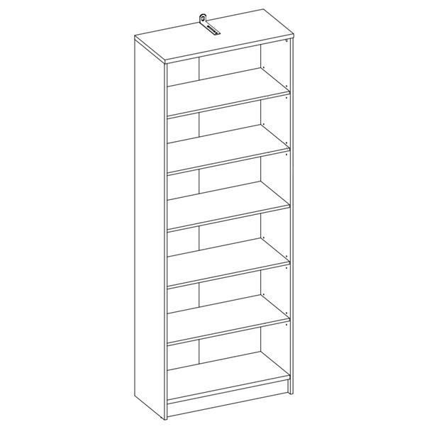 Regál/knihovna OPTIMUS 35-016 beton/bílá 2