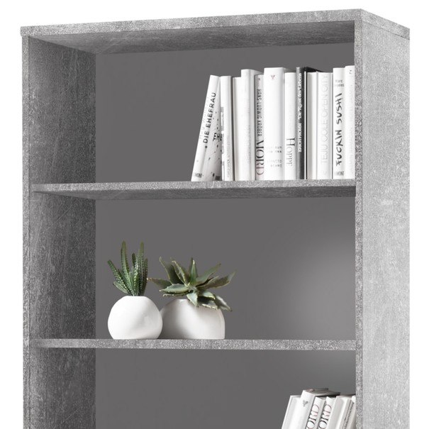 Regál/knihovna OPTIMUS 35-016 beton/bílá 4