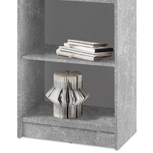 Regál/knihovna OPTIMUS 35-017-66 beton/bílá 3