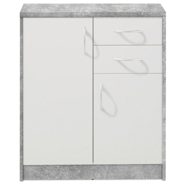 Komoda OPTIMUS 38-003 bílá/beton 3