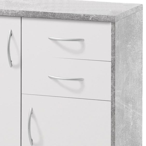 Komoda OPTIMUS 38-003 bílá/beton 4