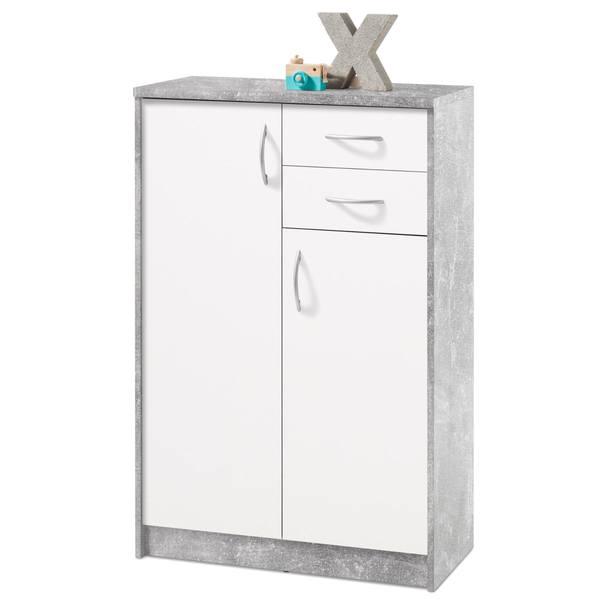 Komoda OPTIMUS 38-004 bílá/beton 1