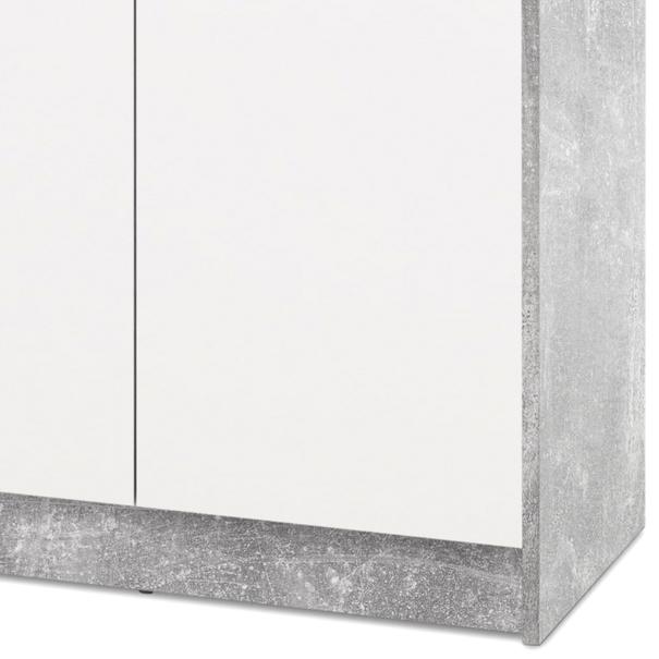 Komoda OPTIMUS 38-004 bílá/beton 3