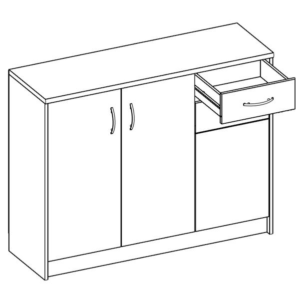 Komoda OPTIMUS 38-005 bílá/beton 2