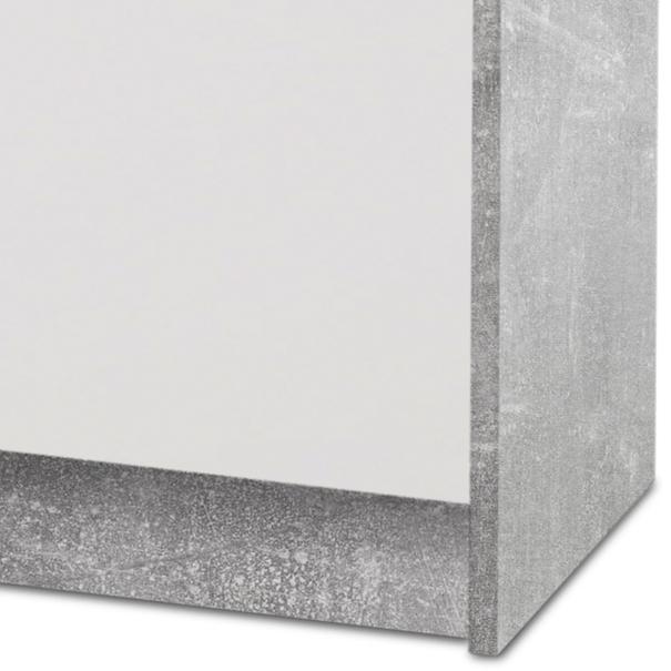 Komoda OPTIMUS 38-005 bílá/beton 4