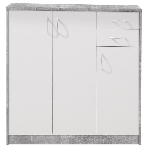 Komoda OPTIMUS 38-006 bílá/beton 3