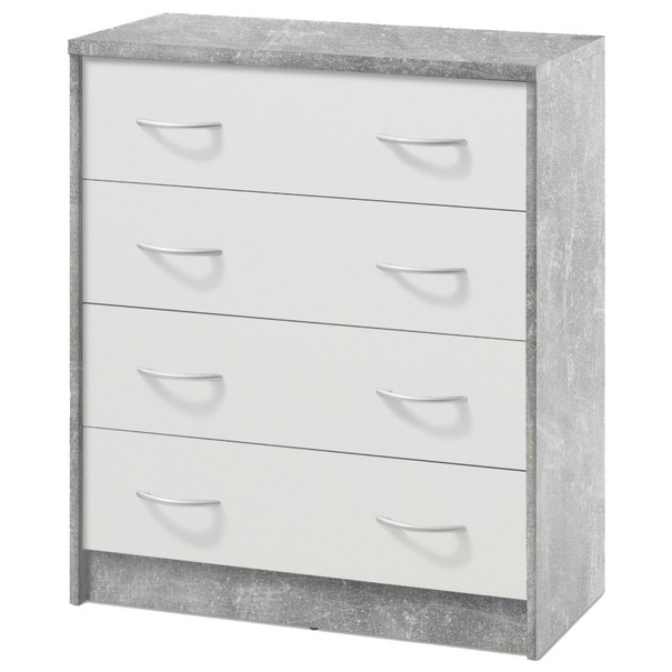Komoda OPTIMUS 38-008 bílá/beton 1