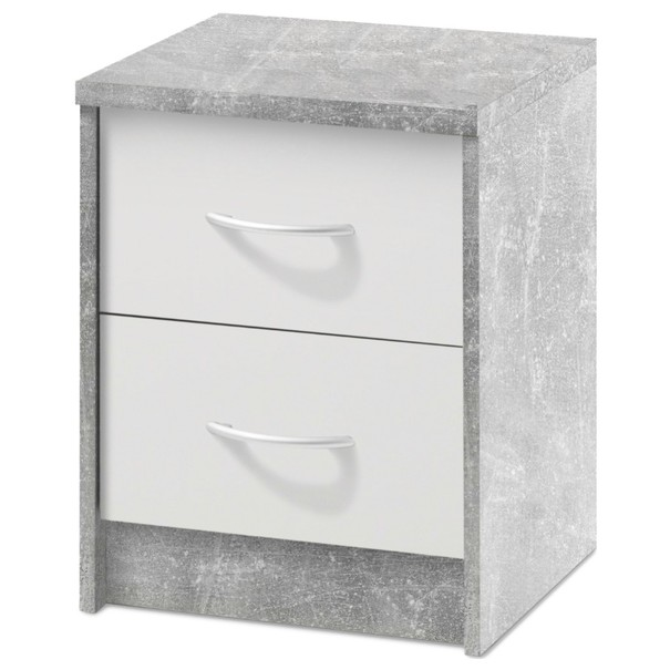 Nočný stolík OPTIMUS 38-009 betón/biela 1