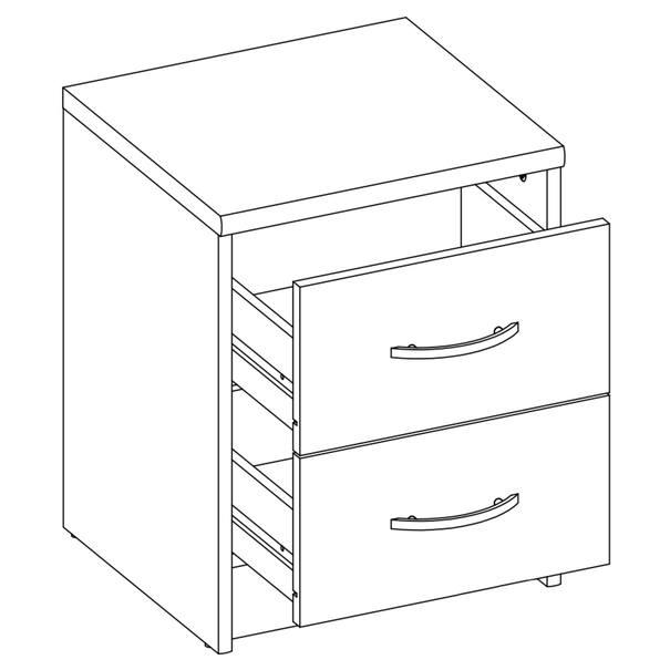 Noční stolek OPTIMUS 38-009 bílá/beton 2
