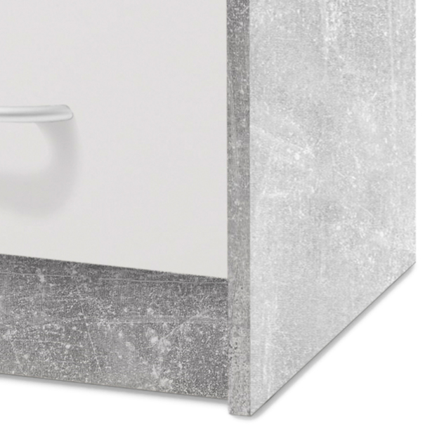 Noční stolek OPTIMUS 38-009 bílá/beton 3