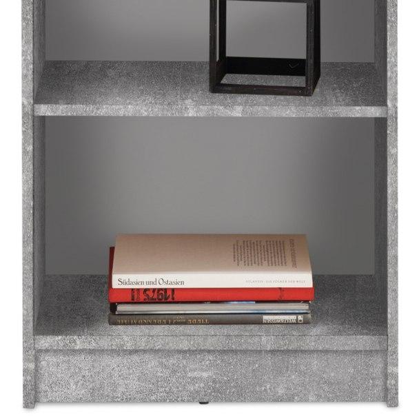 Regál/knihovna OPTIMUS beton/bílá 3