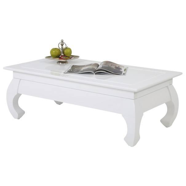 Sconto Konferenčný stolík OSAKA II biela vysoký lesk