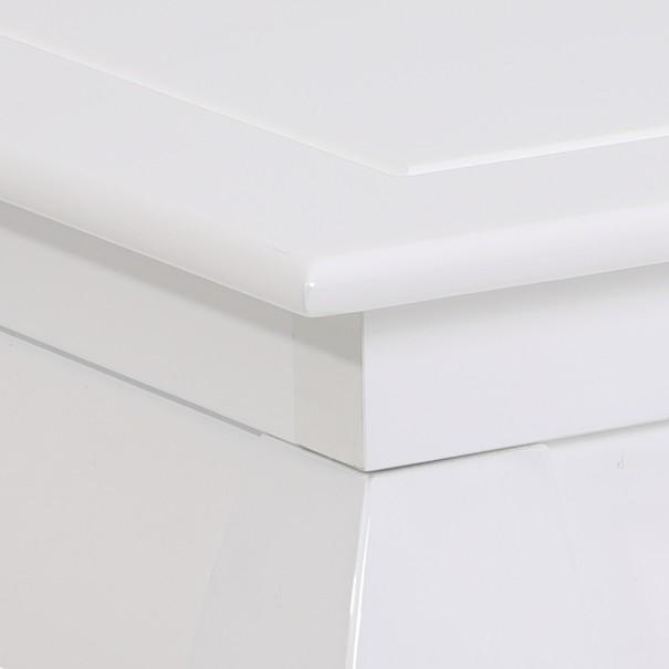 Konferenční stolek OSAKA II bílá vysoký lesk 3
