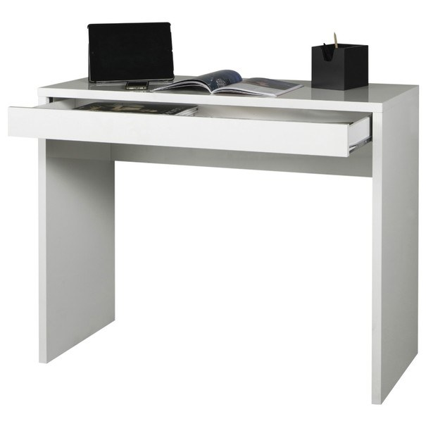 Psací stůl OSTARA bílá/vysoký lesk 1