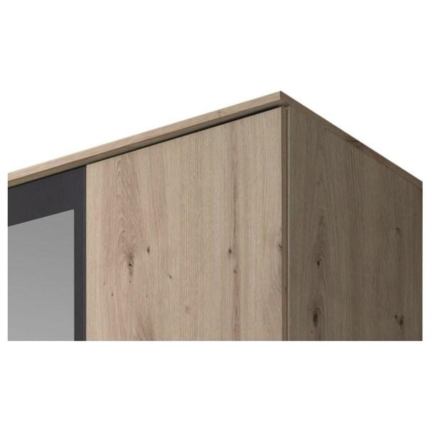 Šatní skříň OTMAR dub artisan/antracit 4