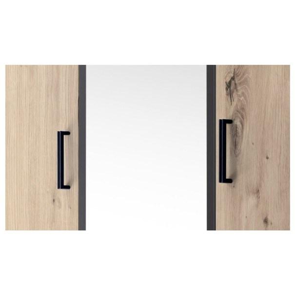 Šatní skříň OTMAR dub artisan/antracit 5