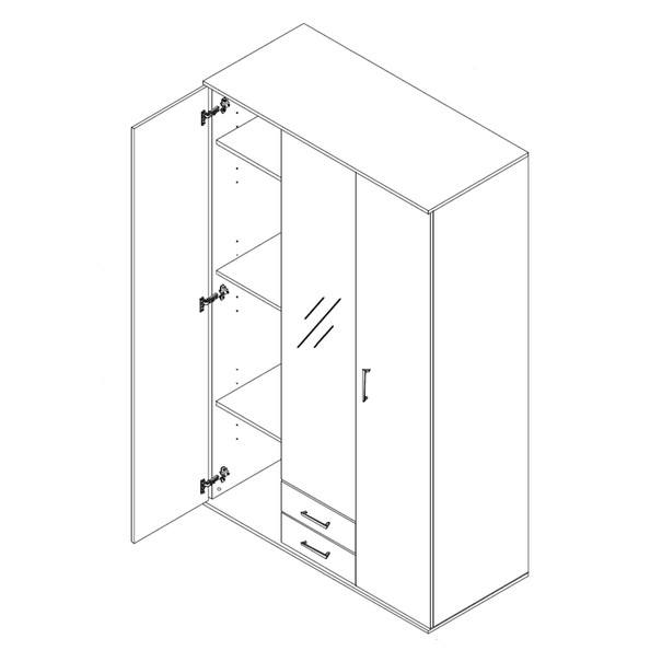 Šatní skříň OTMAR bílá 3