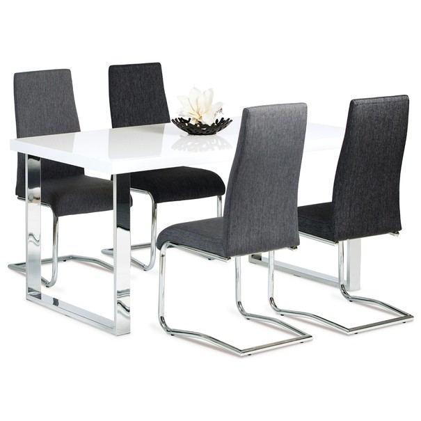 Jídelní stůl PABLO 1 bílá vysoký lesk 2