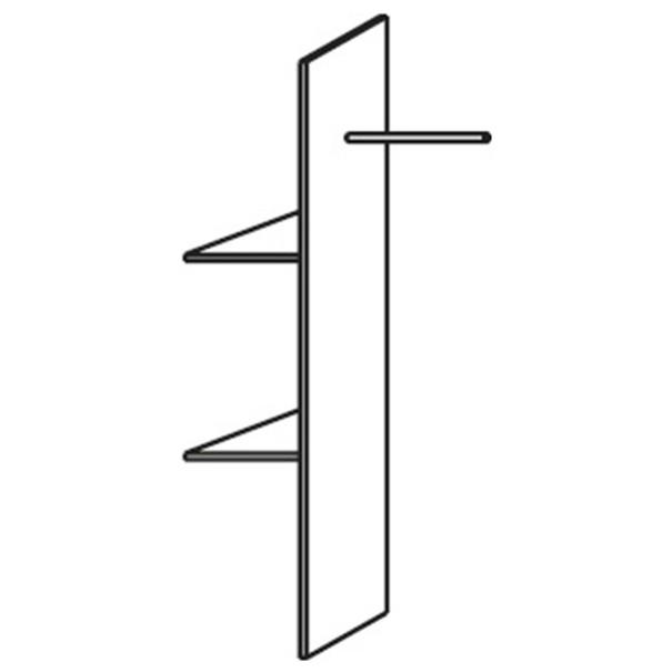 Vnitřní rozdělovač skříně PACK´S 2 police, šatní tyč 1