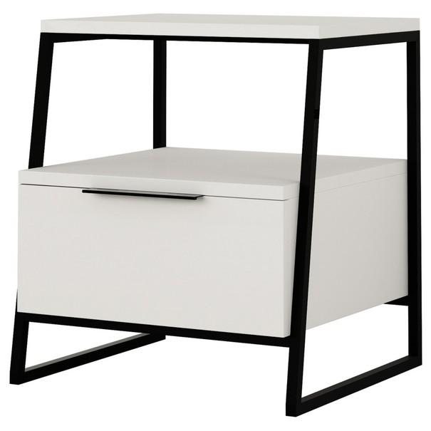 Sconto Noční stolek PAL bílá - nábytek SCONTOnábytek.cz