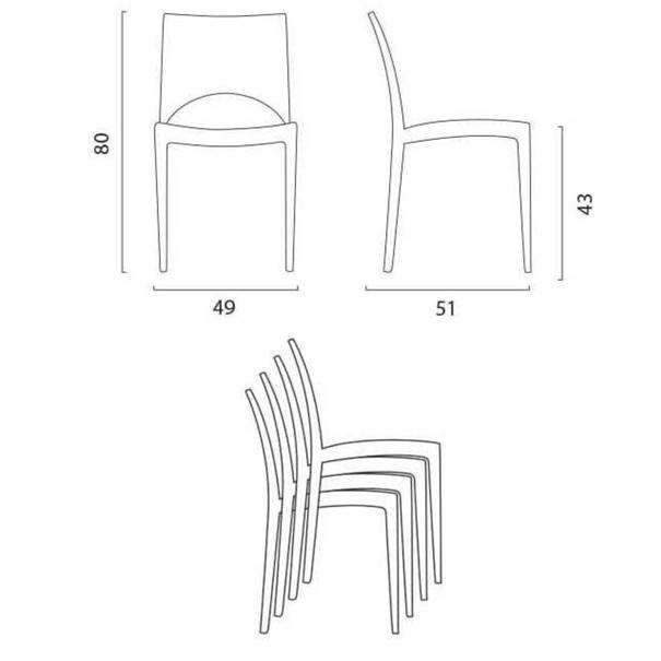 Jídelní židle PARIS oranžová 4