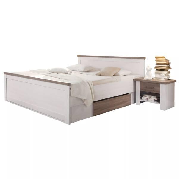 Postel s nočními stolky PARVATI bílá, 180x200 cm 1