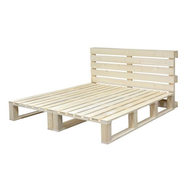 Sconto Paletová postel PAULETTE přírodní smrk, 180x200 cm - nábytek SCONTO nábytek.cz
