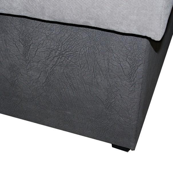 Posteľ  PETRA dub sonoma/sivá, 140x200 cm 5