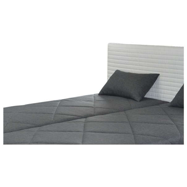 Postel s polohovacím roštem a matrací PETTIGO bílá/šedá, 160x200 cm 2