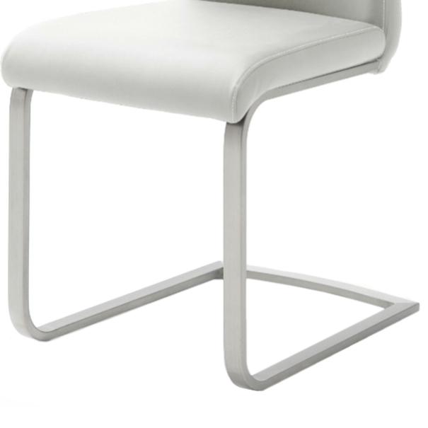 Jedálenská stolička PIPER biela 3