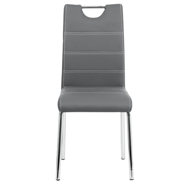 Jedálenská stolička POLA sivá 2