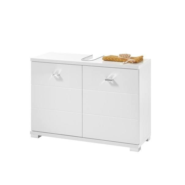 Sconto Umyvadlová skříňka POOL, 80 cm bílá vysoký lesk - nábytek SCONTOnábytek.cz