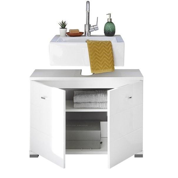 Umyvadlová skříňka POOL, 80 cm bílá vysoký lesk 3