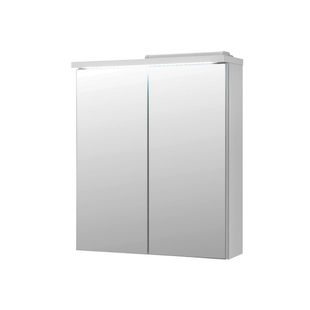 Sconto Zrcadlová skříňka POOL 60 cm, bílá vysoký lesk - nábytek SCONTO nábytek.cz