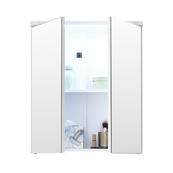 Zrcadlová skříňka POOL 60 cm, bílá vysoký lesk 3