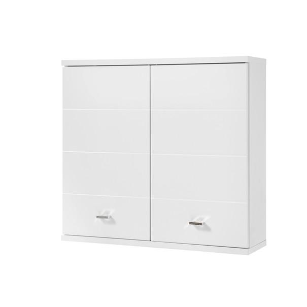 Sconto Závěsná skříňka POOL bílá vysoký lesk, šířka 76 cm - nábytek SCONTO nábytek.cz