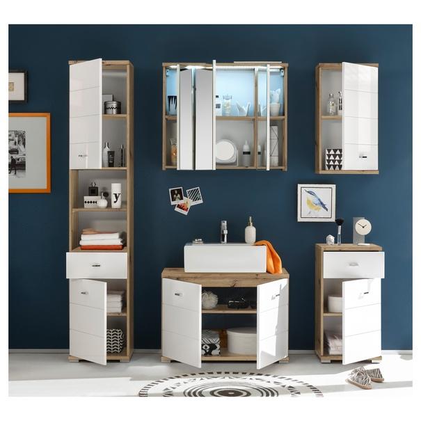 Zrcadlová skříňka POOL dub artisan, 80 cm 4