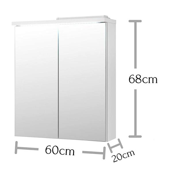 Zrcadlová skříňka POOL 60 cm, bílá vysoký lesk 5