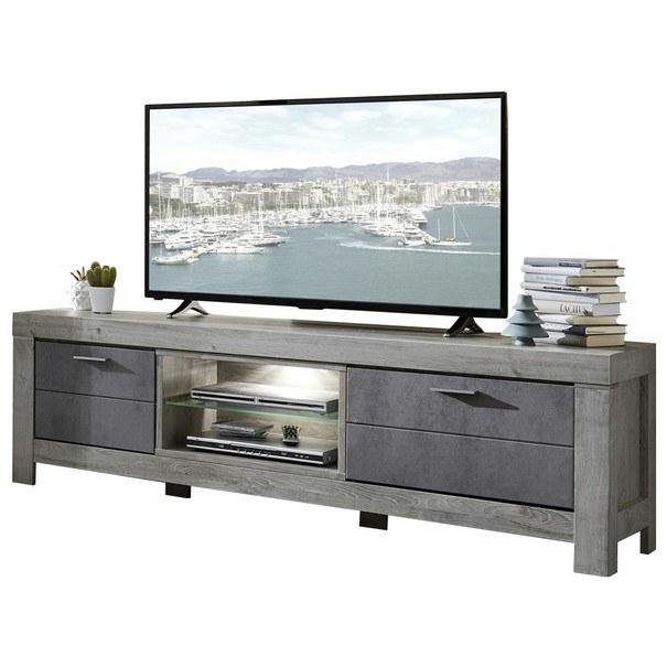 TV stolek PORTO dub/beton 1