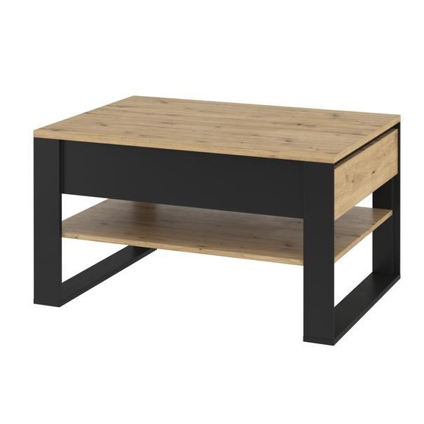 Sconto Konferenční stolek QUANT 09 dub artisan/čená - nábytek SCONTOnábytek.cz