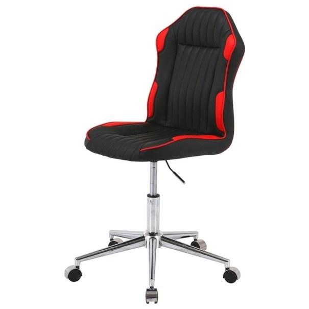 Otočná židle RACING černá/červená 1