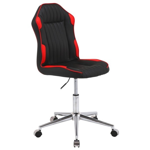 Otočná židle RACING černá/červená 2