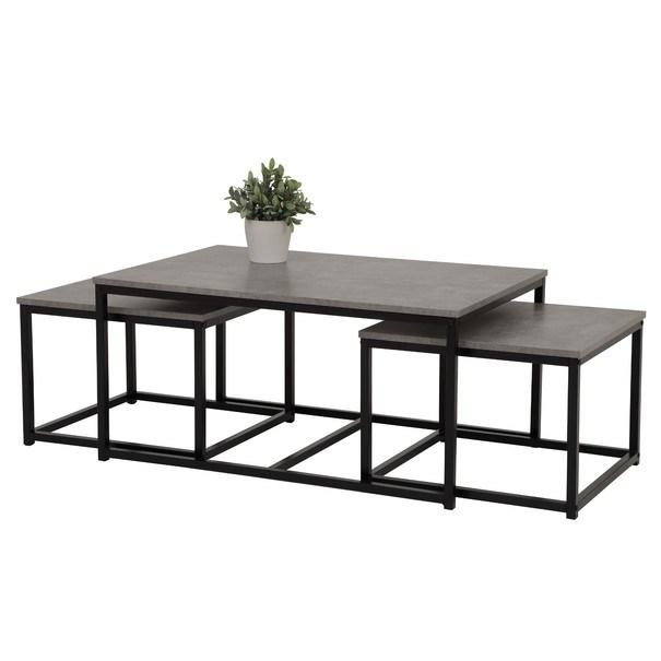 Konferenčné stolíky RASMUS betón/čierna 1