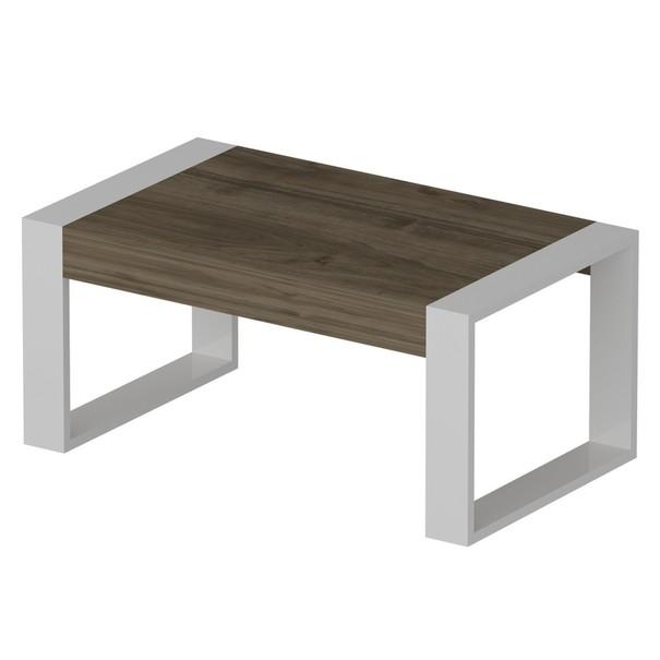 Konferenční stolek  RETRO ořech/bílá 1