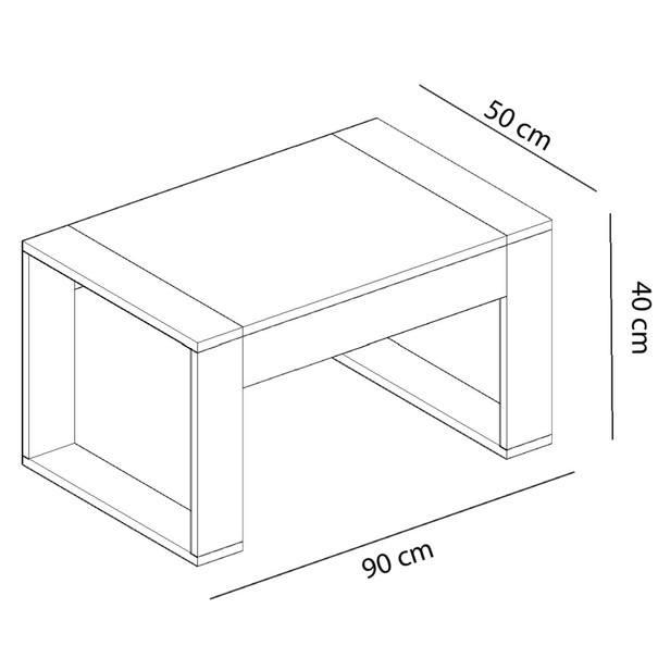 Konferenční stolek  RETRO ořech/bílá 3