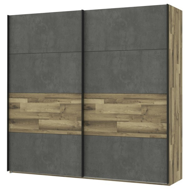 Šatní skříň  RICCIANO dekor dub parketový/tmavě šedá 1