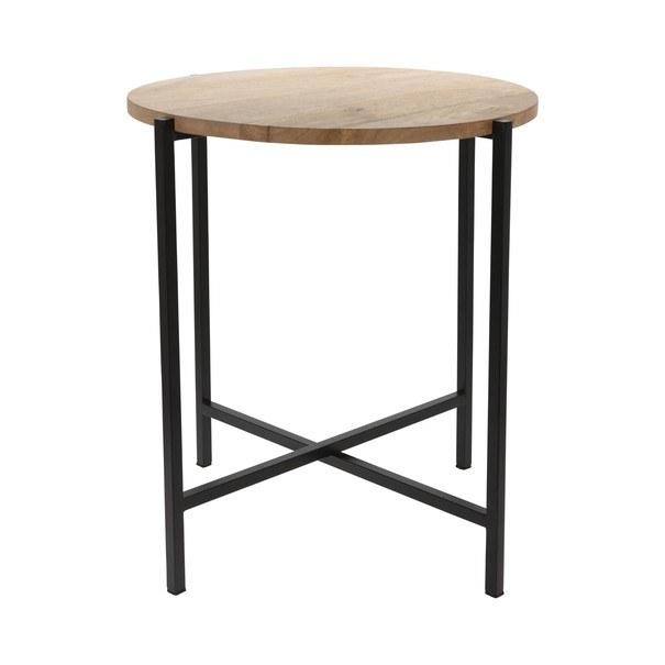 Odkládací stolek  RICHARD černá/mangovník 1